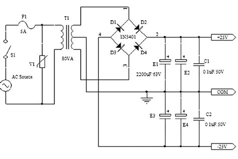 Symmetrical Power Supply Circuits