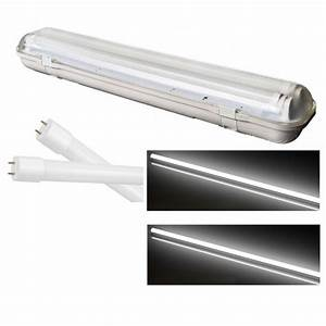 Reglette Neon Led : reglette support etanche led 46w a double tube led t8 ~ Melissatoandfro.com Idées de Décoration