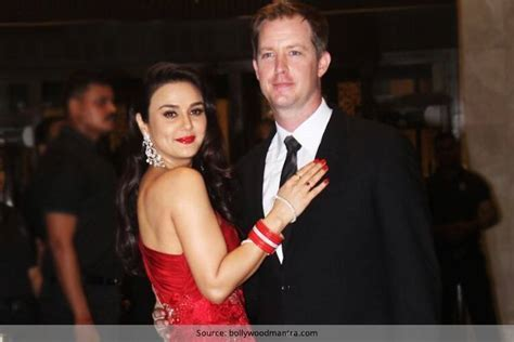 Preity Zinta Dazzles In A Red Gown At Her Wedding Reception