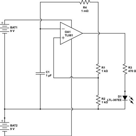 Operational Amplifier Astable Multivibrator Circuit
