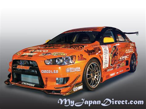 Mitsubishi Evo X Parts by M Sports Front Bumper W Carbon Spoiler For