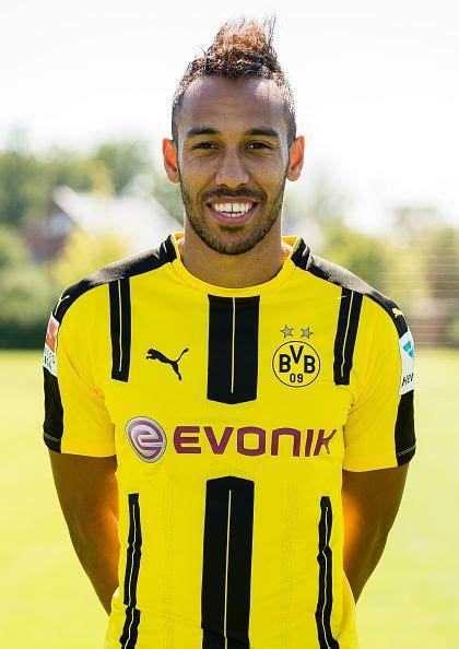 Dortmund's PierreEmerick Aubameyang poses during the team ...