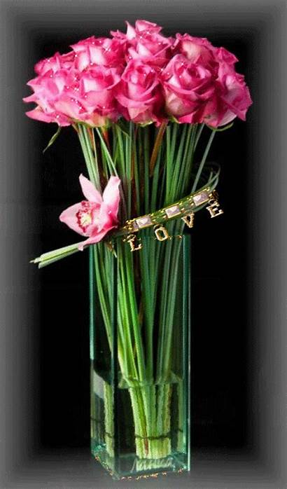 Roses Pink Flowers Rose Flower Bouquet Gifs