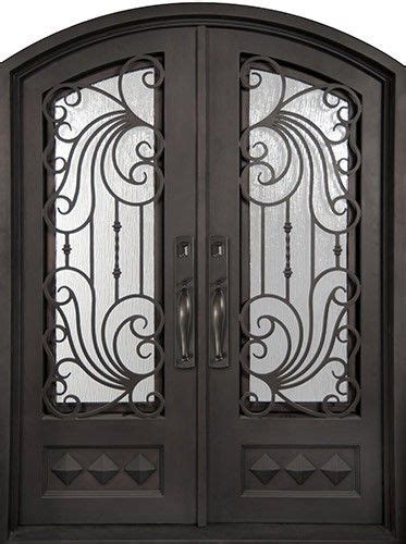 ocean wave prehung iron double door unit