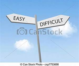 Pictures of Easy or difficult csp7753688 - Search Stock ...