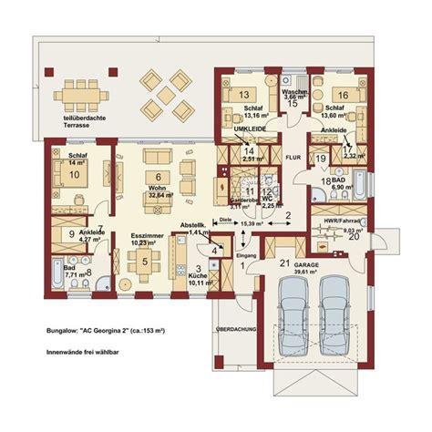 Bungalow Grundrisse Mit Doppelgarage by Hausgrundrisse Mit Integrierter Garage