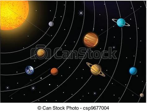Sistema Solar Vector Ilustracion