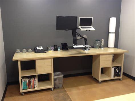Bedroom Corner Desk Unit by Kallax Workstation Extraordinaire Ikea Hackers Ikea