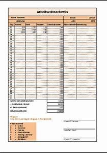 Arbeitsstunden Pro Monat Berechnen : excel arbeitszeitnachweis vorlagen 2016 office ~ Themetempest.com Abrechnung