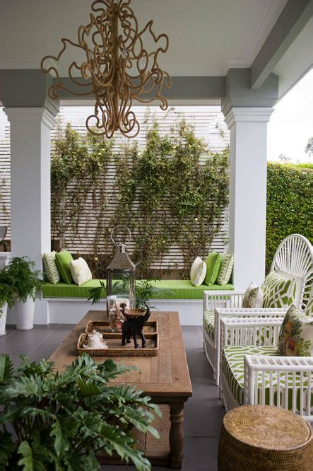 Pretty Porches And Terraces by Pretty Green And White On The Veranda The Chandelier