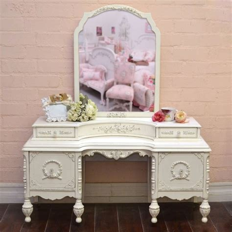vintage makeup vanity stunning vintage vanity in white with mirror