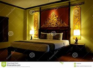 Fancy Asian Style Bedroom Royalty Free Stock s