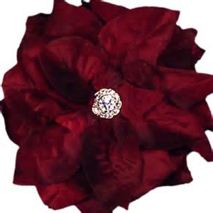 clip on bridal earrings flower clip burgundy assorted flowers x large 6 inch