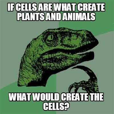 What Are Memes - meme creator if cells are what create plants and animals what would create the cells meme