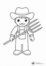 Farmer Overalls Coloring Template Pages Templates sketch template
