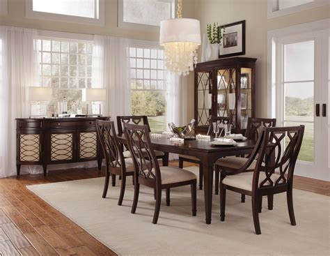 intrigue formal dining room collection  wood