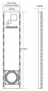 Sonance Cinema Vp12sub Nc In-wall Enclosure Only