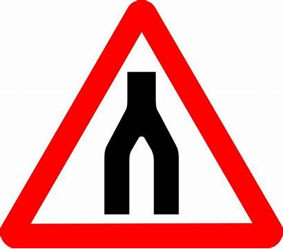 Signs Road Sign Merge Traffic Clip Svg