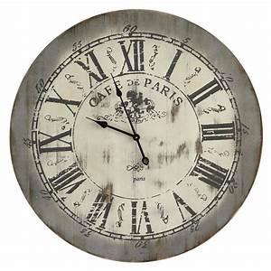 Pendule Maison Du Monde : horloge en bois d 85 cm st anne maisons du monde ~ Teatrodelosmanantiales.com Idées de Décoration