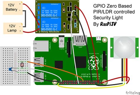 Gpio Zero Test Drive Making Light Security Raspi