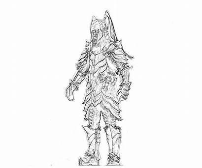 Skyrim Coloring Elder Scrolls Armor Orc Pages