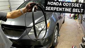 Honda Odyssey 3 5 Serpentine Belt Removal Replacement