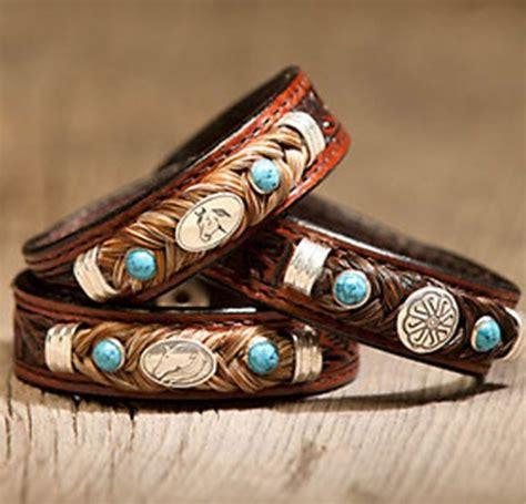 cowboy collectibles horse hair equine concho bracelets