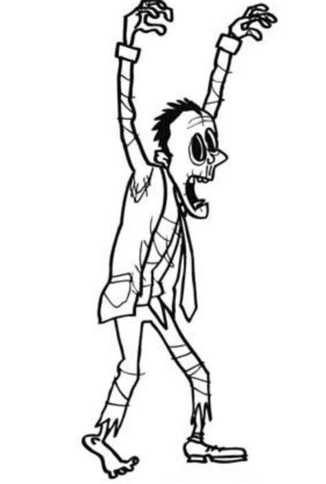 kostenlose malvorlage halloween zombie zum ausmalen