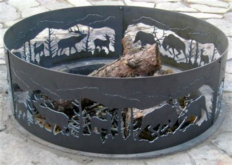 Decorative Fighting Elk Fire Ring