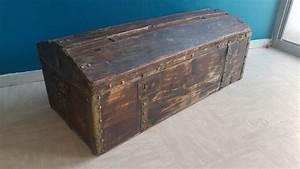 Malle En Bois : malle en bois ancienne ann es 40 50 les vieilles choses ~ Melissatoandfro.com Idées de Décoration
