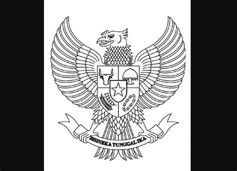 sketsa burung garuda beserta makna gambarnya