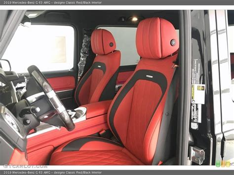 V8, 4.0 l, 800 hp, 1111 nm transmission: designo Classic Red/Black Interior Front Seat for the 2019 Mercedes-Benz G 63 AMG #134296404 ...