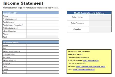 Personal Income Statement Worksheet  Pesolab. Mother Day Program Template. Sample Of Travel Brochures Template. Samples Of Executive Summaries Template. Sample Board Minutes Template. Selling Yourself On A Resumes Template. What Is Microsoft Net Worth Template. Example Of Format Of Resume. Server Disaster Recovery Plan Template