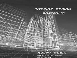 Best Cover Page Templates Ruchy Rubin Interior Design Portfolio Pdf By Design Alive
