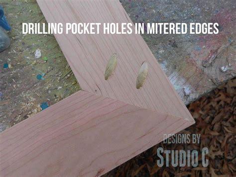 drill pocket holes  mitered corners tutorial