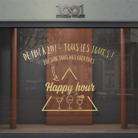 Vitrophanie Happy Hour Pour Bar Et Restaurant