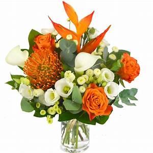 fleurs exotiques oranges With chambre bébé design avec bouquet de fleurs anniversaire 80 ans