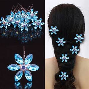 5PcsLot Wedding Bridal Hair Jewelry Crystal Rhinestone