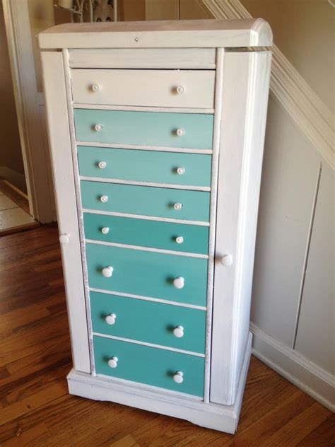 diy ombre dresser upcycled home house decor style