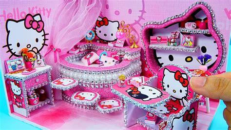 diy miniature dollhouse room  kitty room decor