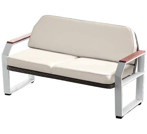 canapé de jardin aluminium canapé de jardin 2 places blanc teck alu miami 2 places