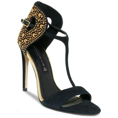 lyst steven  steve madden sertia evening sandals  black