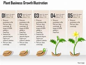 0514 Plant Business Growth Illustration Powerpoint