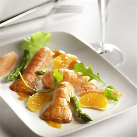 comment cuisiner des asperges vertes recette culinaire langoustines rôties agrumes photos culinaires