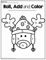 Coloring Math Kindergarten December Packet Preschool Roll Dice Printable Packets Prep Printables Activities Them Colors Reindeer Numbers Adding Worksheets Worksheet sketch template