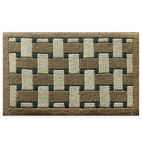 30 X 48 Doormat by Nature By Geo Crafts Inlaid Providence 30 Inch X 48 Inch