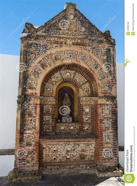 bone chapel  cathedral se faro algarve region