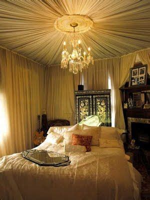draping fabric from ceiling bedroom diy unfinished basement decorating here s another fabric