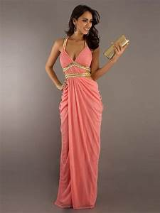 sexy affordable v neck long chiffon prom formal evening With prom wedding dresses