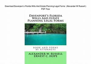 Download davenport s florida wills and estate planning for Florida estate planning documents